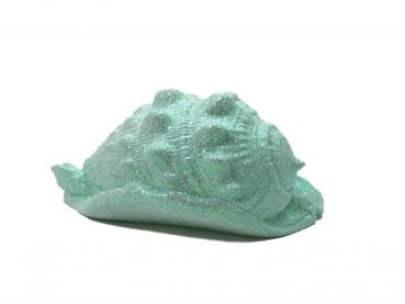 Glitzer Conch Muschel in Pastellmint ca 19 cm lang