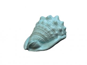 Decorative Conch Muschel in Pastellmint ca 19 cm lang